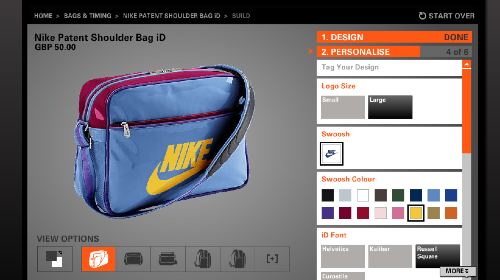 NikeID Customizing Bags