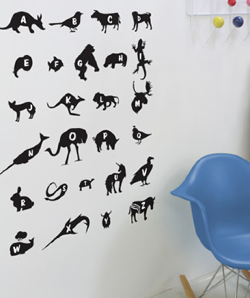 Threadless Wall Designs - Alphabet 1