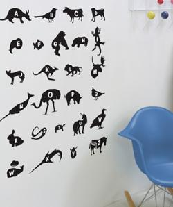 Threadless Wall Designs - Alphabet 1