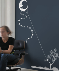 Threadless Wall Designs - Moon Kite