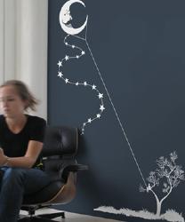 Threadless Wall Designs - Moon Kite
