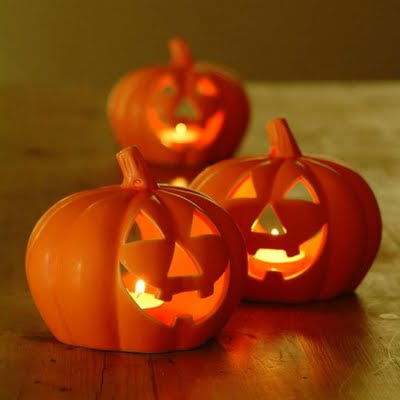 pumpkin tealight holders