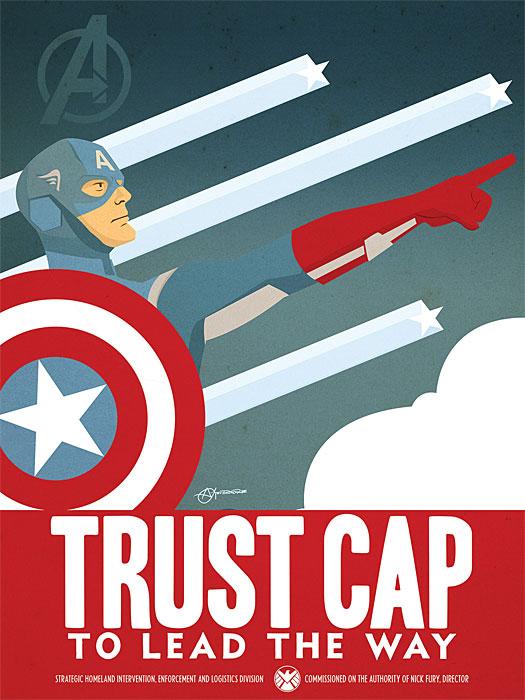 Captain America Propaganda Poster