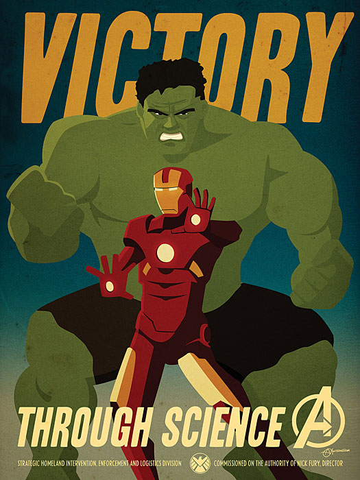 Iron Man Hulk Propaganda Poster