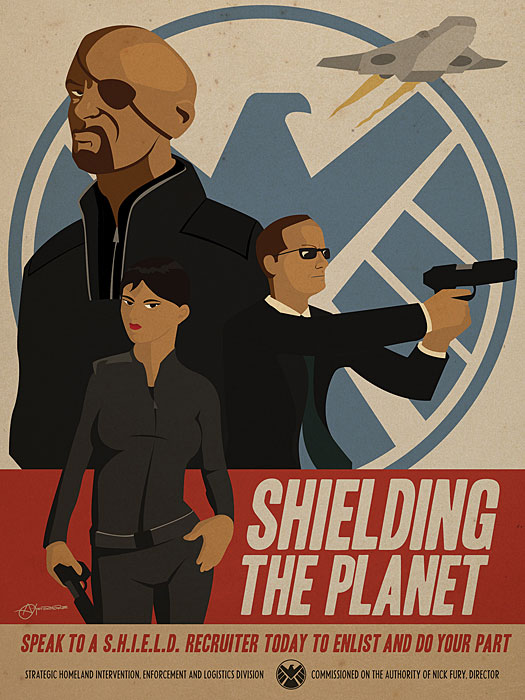 Shiled Propaganda Poster