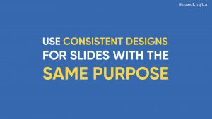 the art of slide design be consistent miss geeky